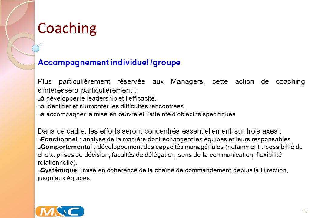 Coaching Accompagnement individuel /groupe