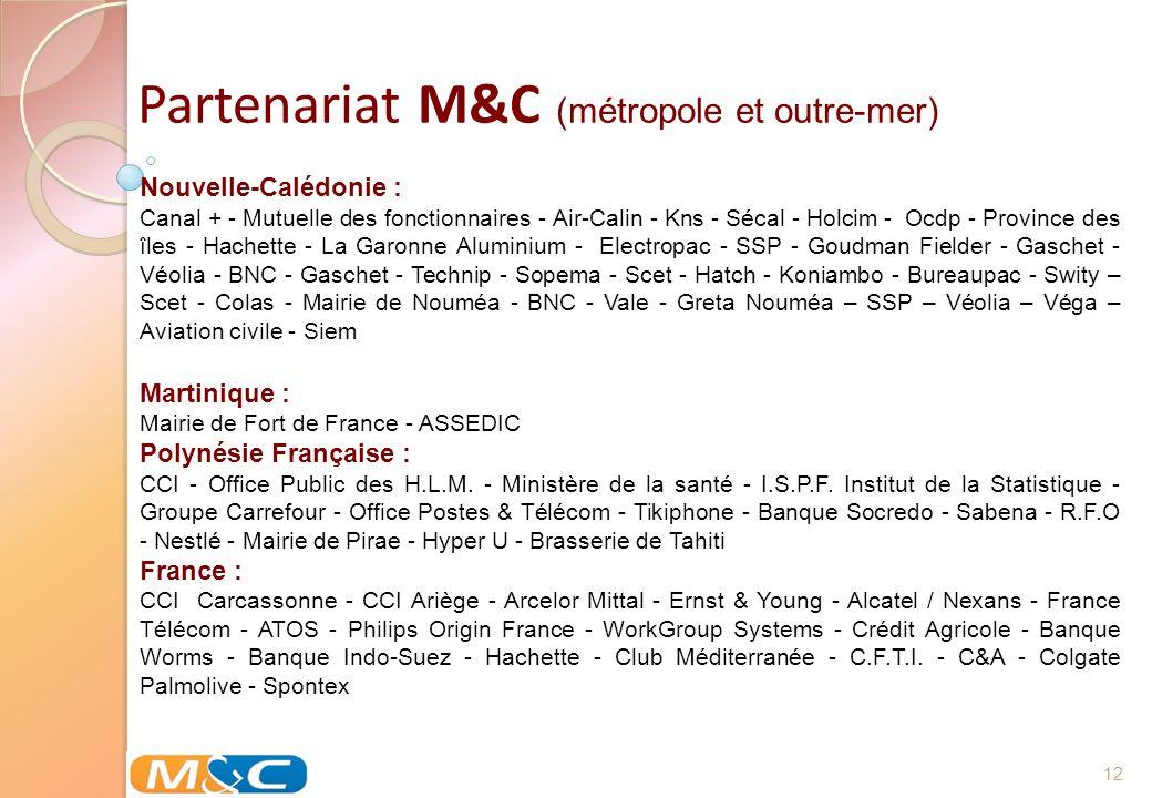 Partenariat M&C (métropole et outre-mer)