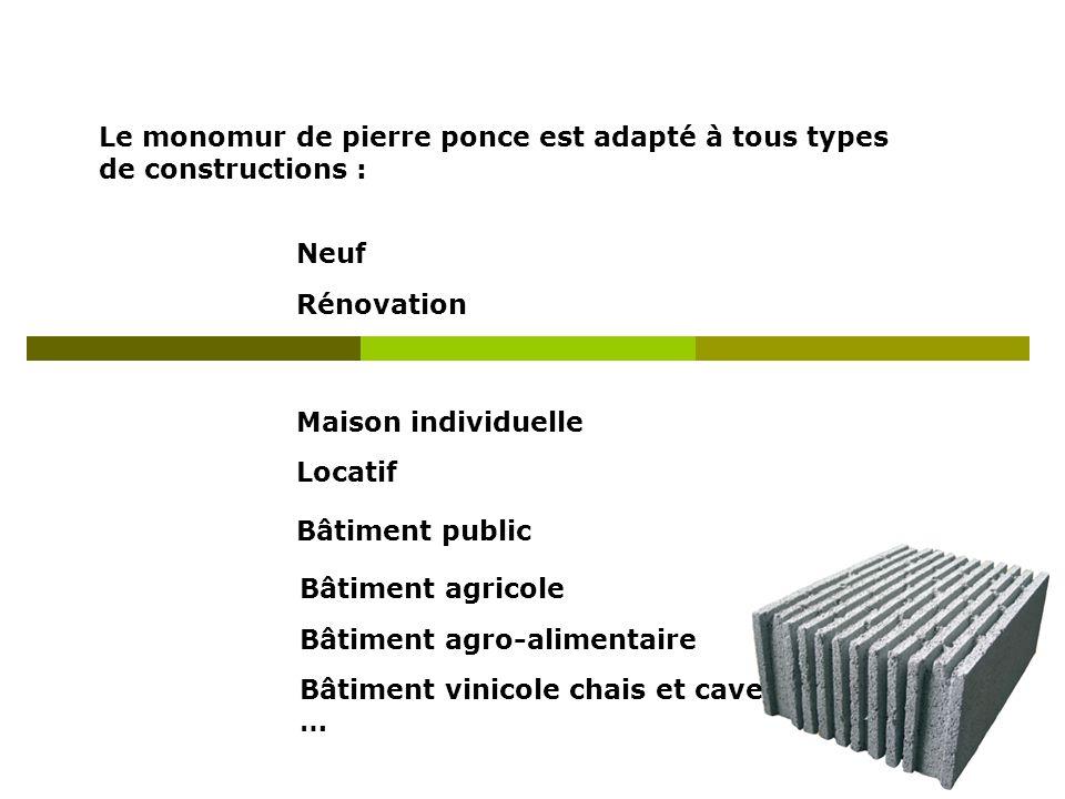 Le monomur de pierre ponce est adapté à tous types de constructions :