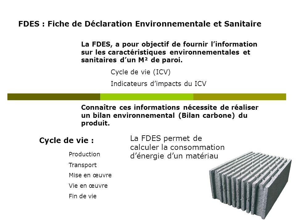 FDES : Fiche de Déclaration Environnementale et Sanitaire