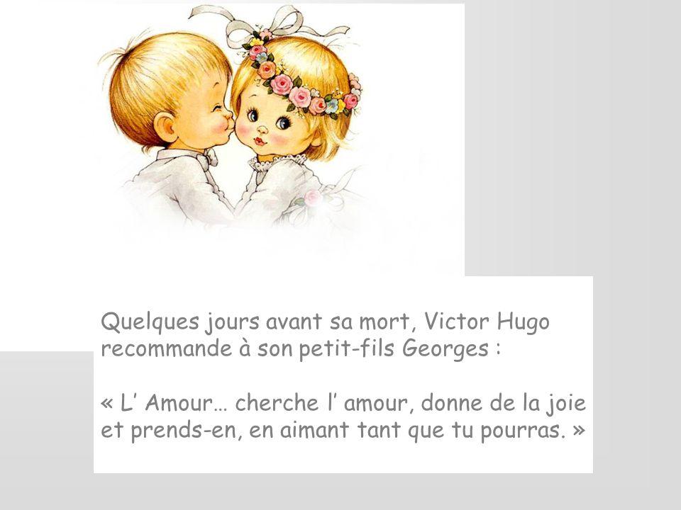 Quelques jours avant sa mort, Victor Hugo