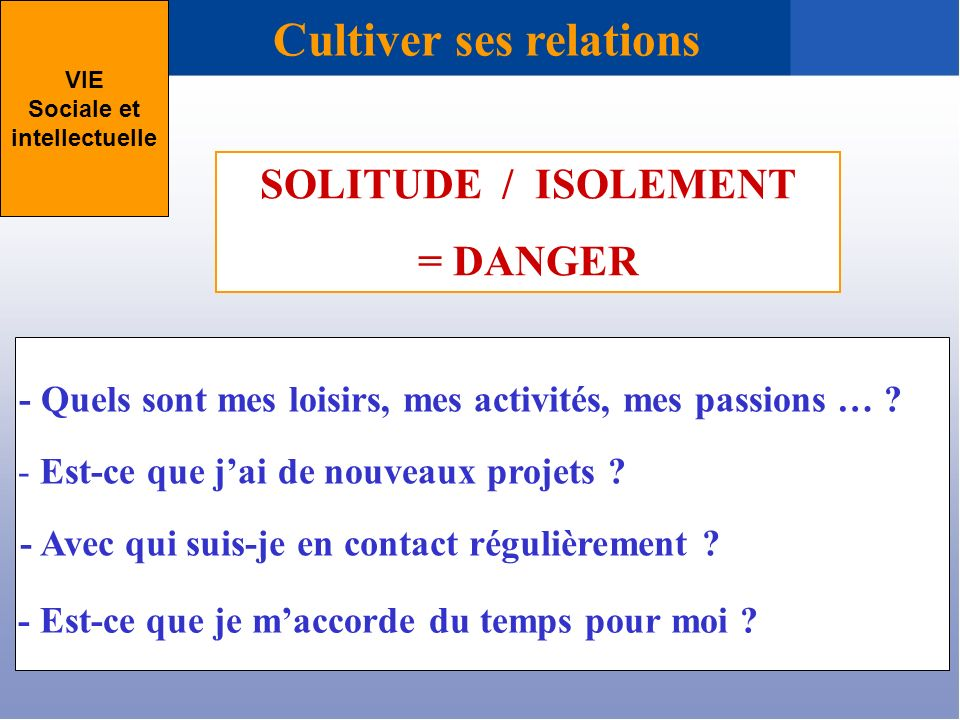 Cultiver ses relations
