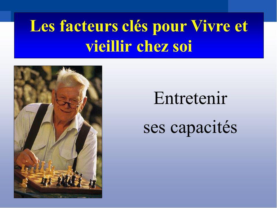 Les facteurs clés pour Vivre et vieillir chez soi