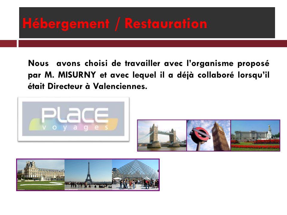 Hébergement / Restauration