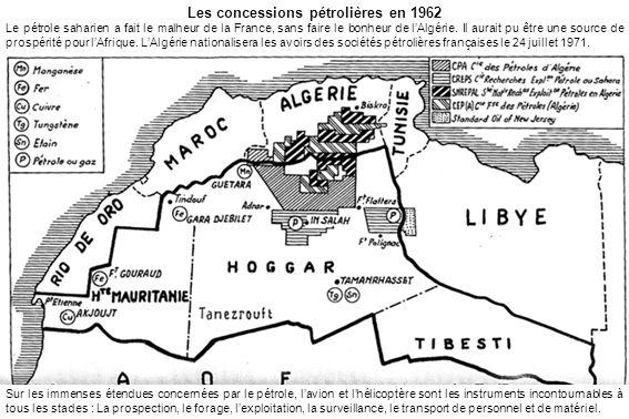 Les concessions pétrolières en 1962