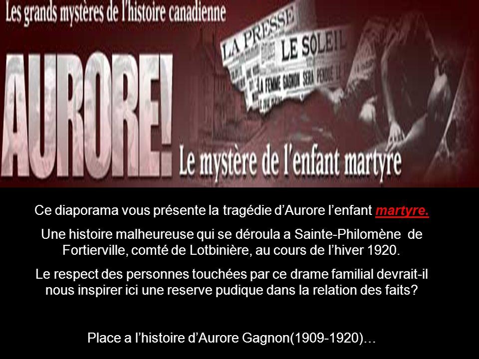 H Ce diaporama vous présente la tragédie d'Aurore l'enfant martyre.