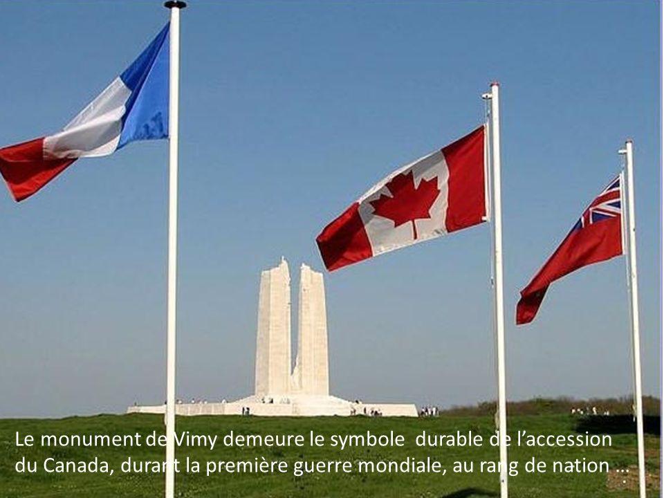 Le monument de Vimy demeure le symbole durable de l'accession du Canada, durant la première guerre mondiale, au rang de nation …