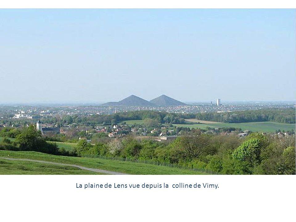 La plaine de Lens vue depuis la colline de Vimy.