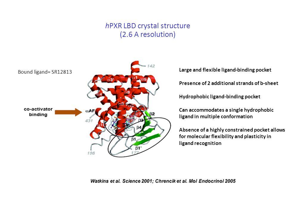 Watkins et al. Science 2001; Chrencik et al. Mol Endocrinol 2005