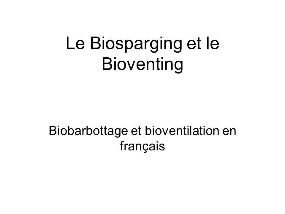 Le Biosparging et le Bioventing
