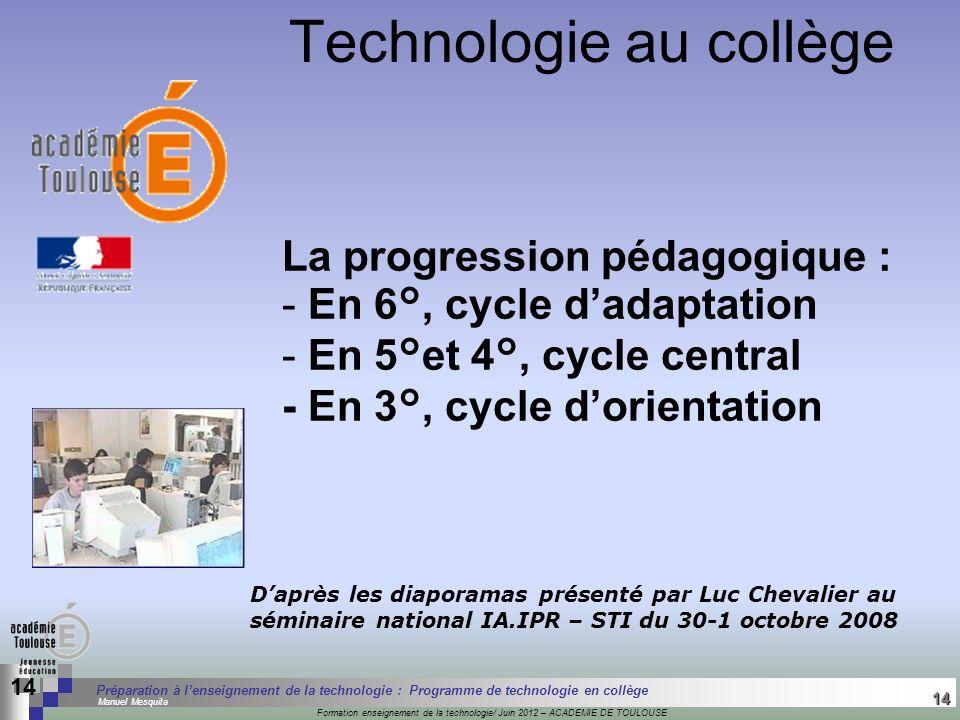 Technologie au collège