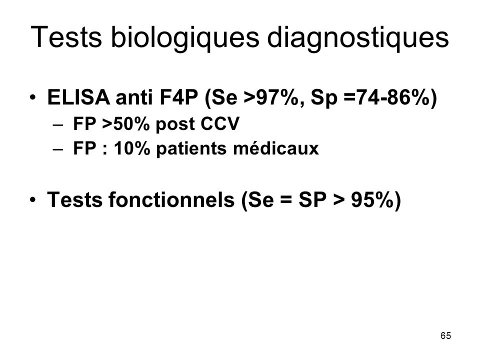 Tests biologiques diagnostiques