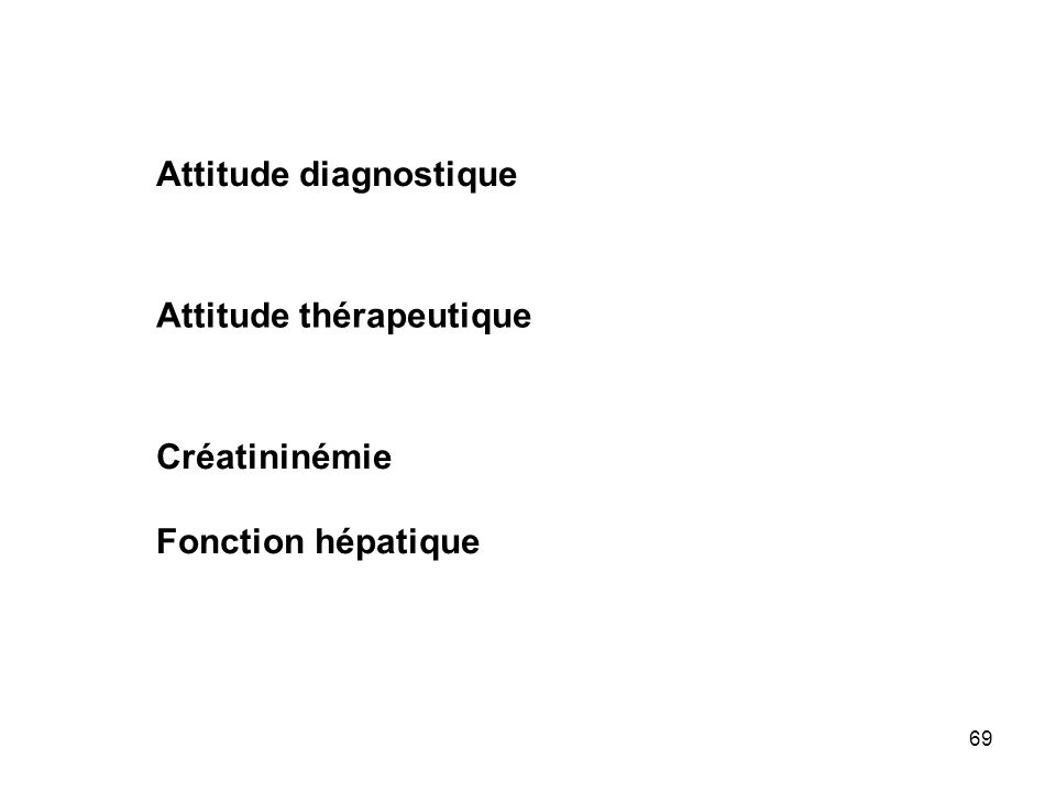 Attitude diagnostique