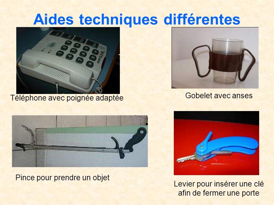 Aides techniques différentes