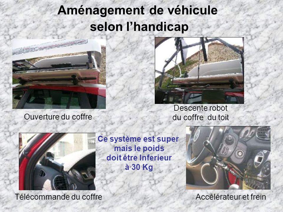 Aménagement de véhicule selon l'handicap