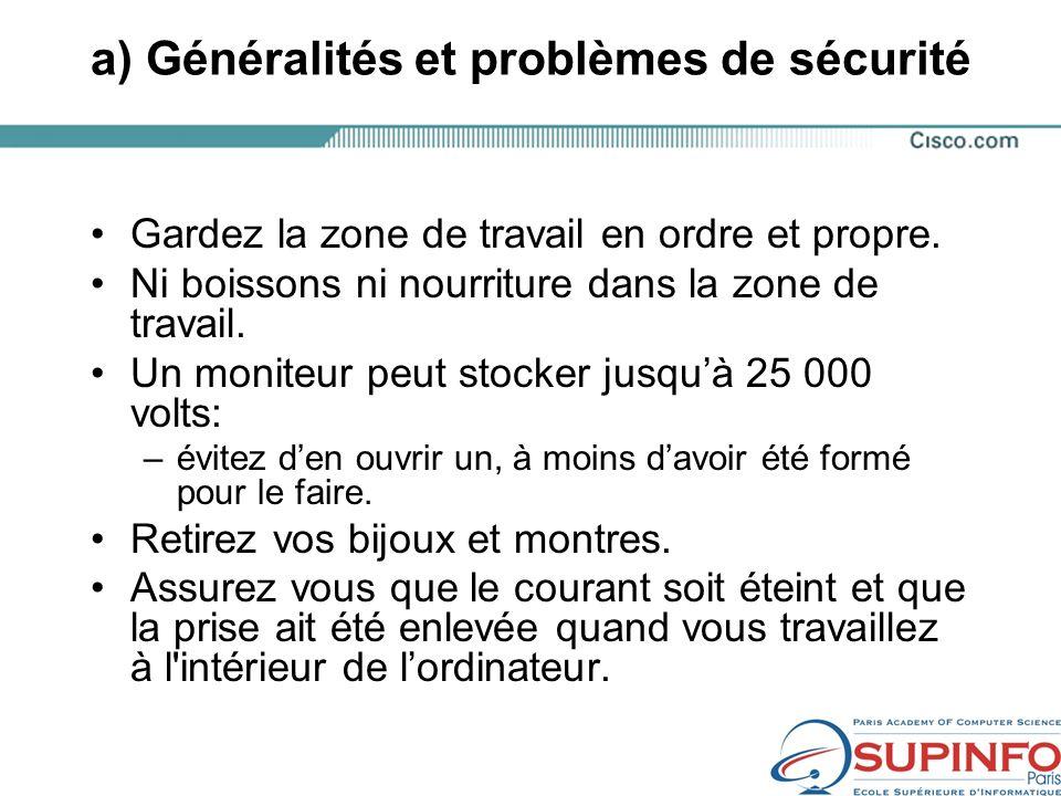 a) Généralités et problèmes de sécurité