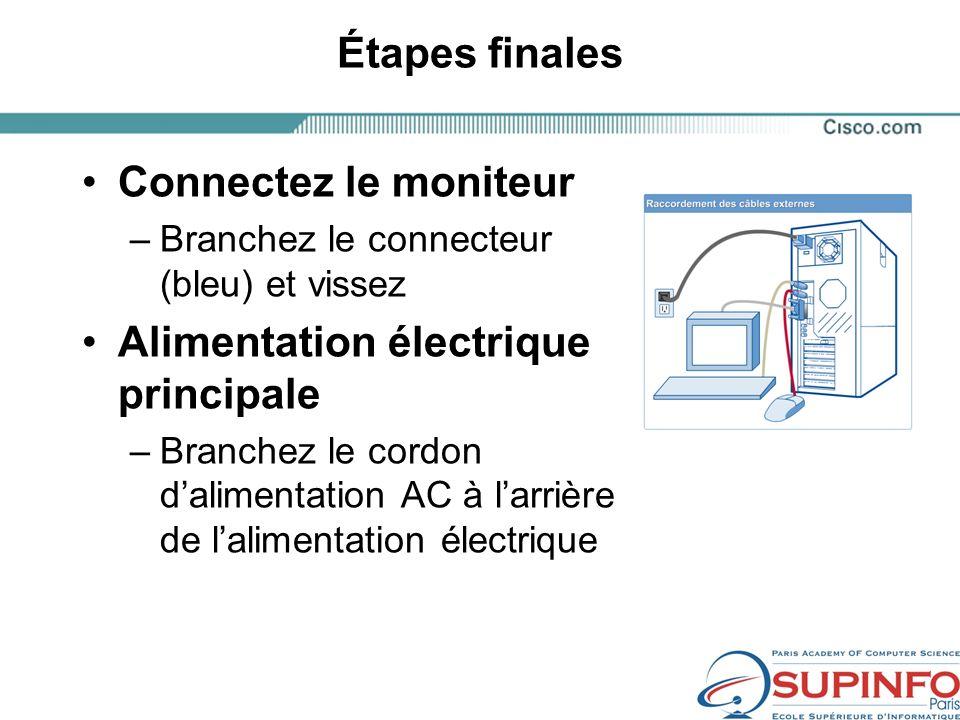 Alimentation électrique principale