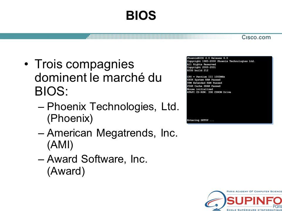 Trois compagnies dominent le marché du BIOS:
