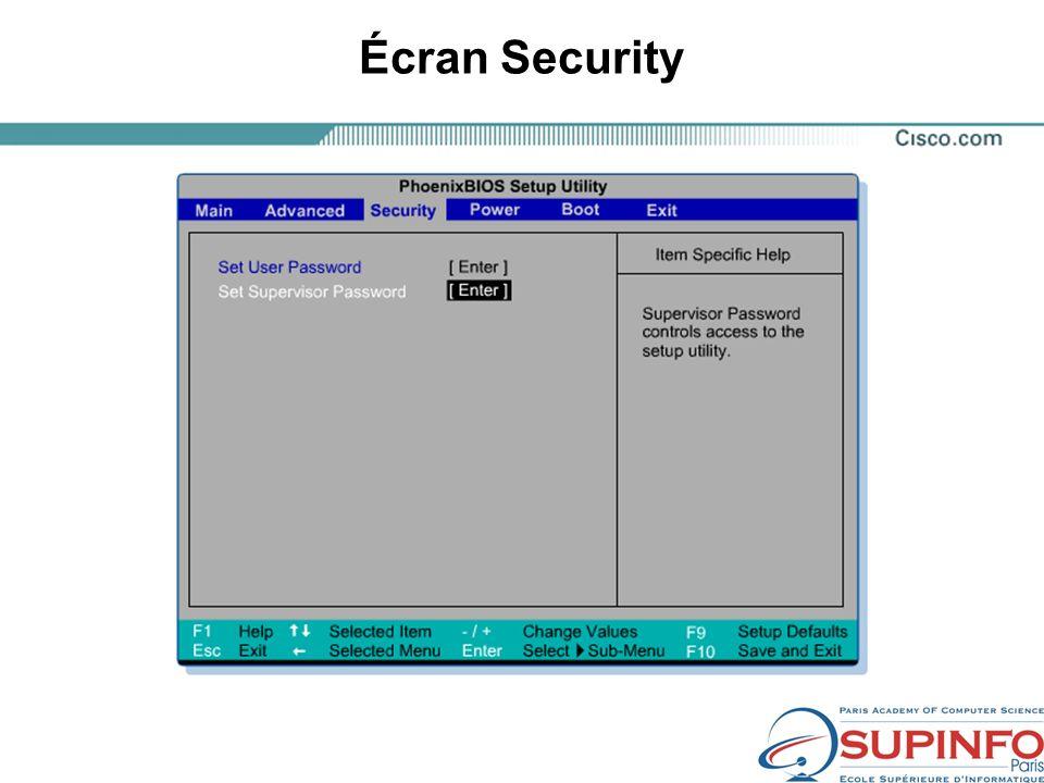 Écran Security