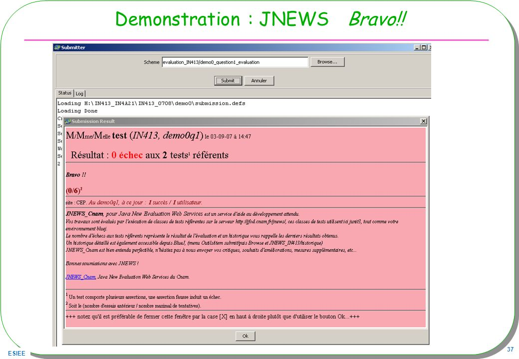 Demonstration : JNEWS Bravo!!