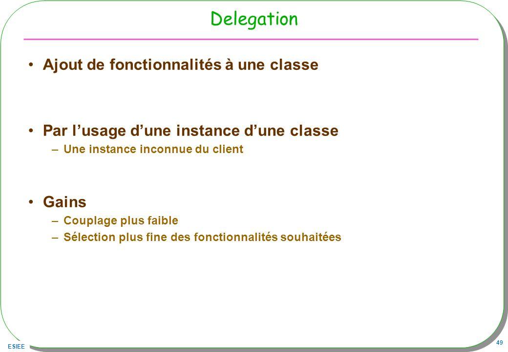 Delegation Ajout de fonctionnalités à une classe