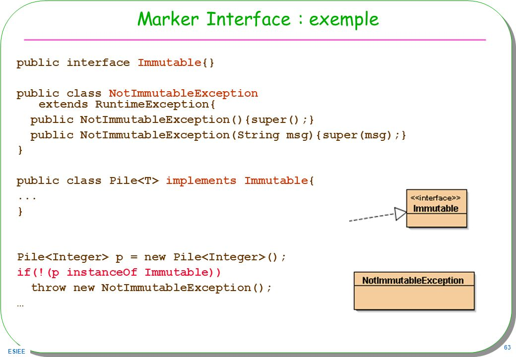 Marker Interface : exemple