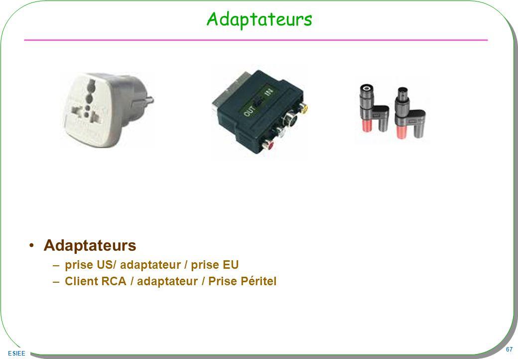 Adaptateurs Adaptateurs prise US/ adaptateur / prise EU