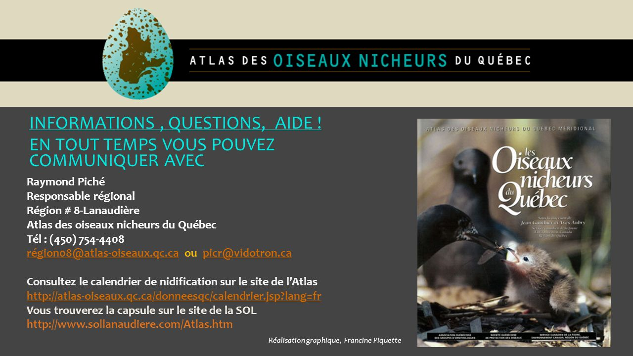 INFORMATIONS , QUESTIONS, AIDE !