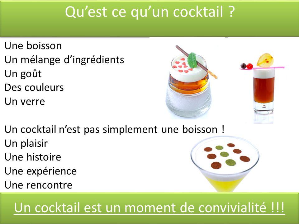 Qu'est ce qu'un cocktail