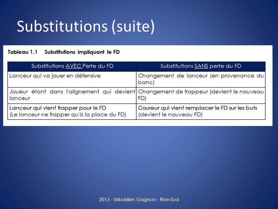 Substitutions (suite)