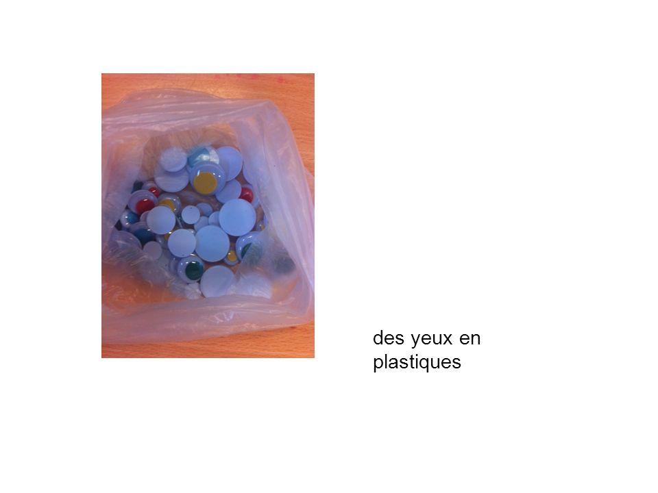 des yeux en plastiques
