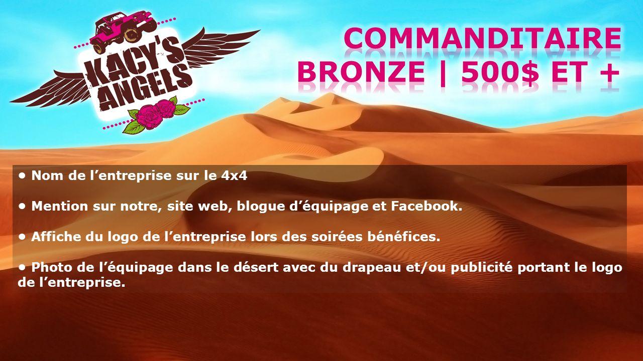 Commanditaire bronze | 500$ et +