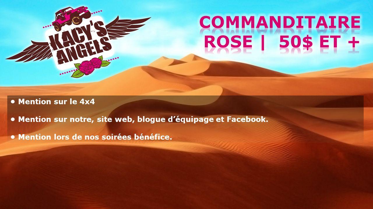 Commanditaire rose | 50$ et +