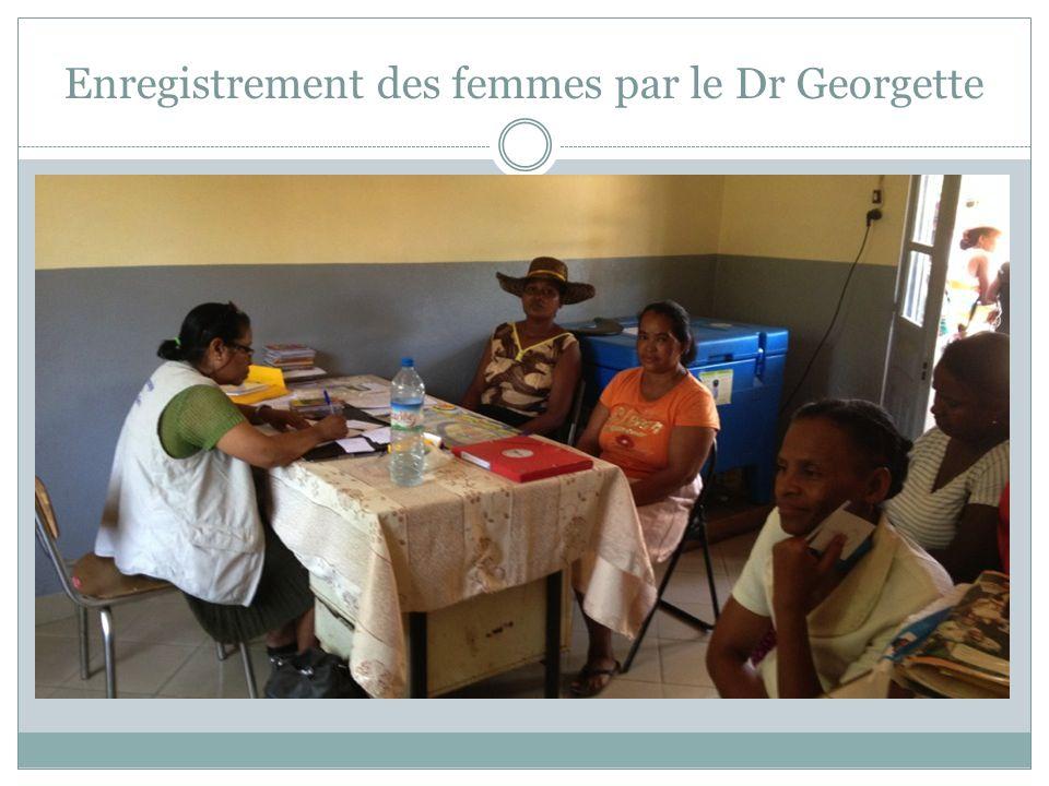Enregistrement des femmes par le Dr Georgette