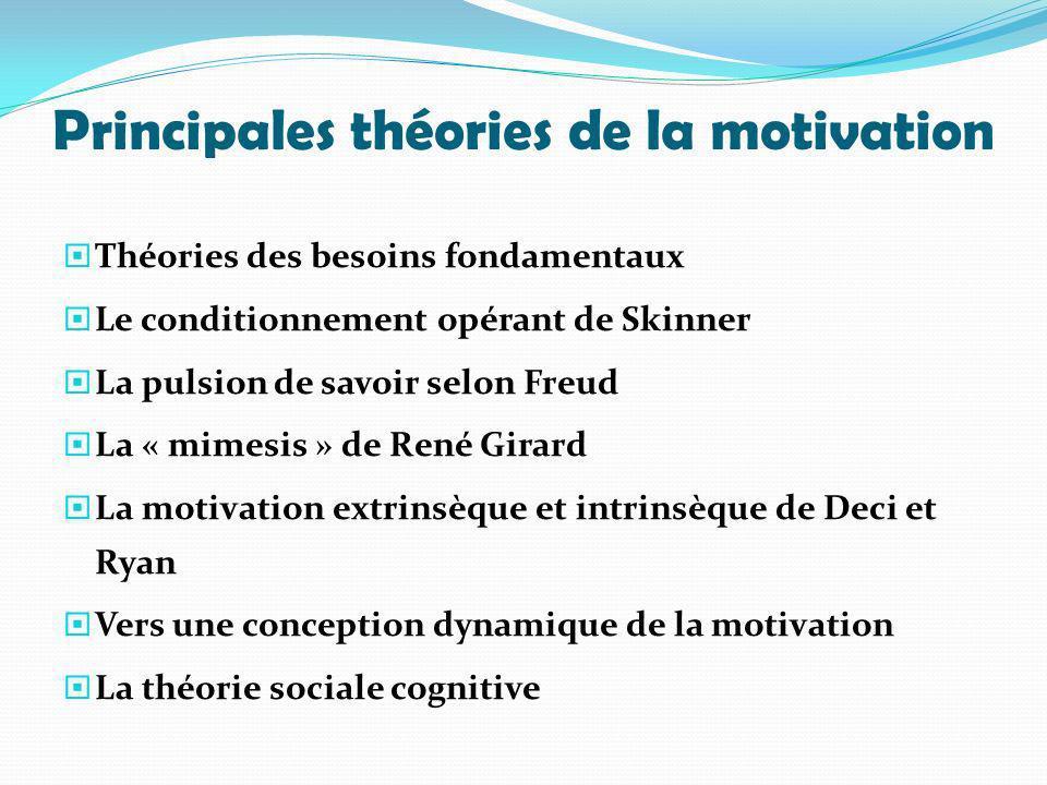 Principales théories de la motivation