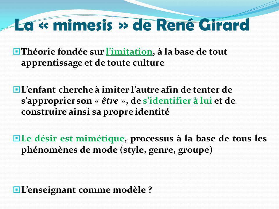 La « mimesis » de René Girard