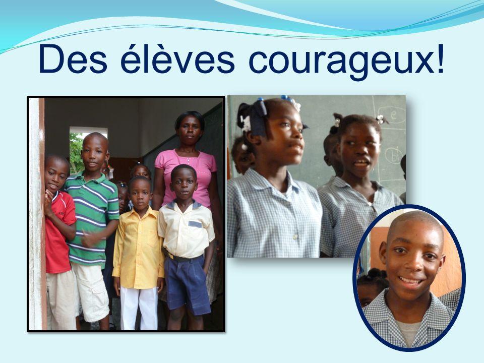 Des élèves courageux!