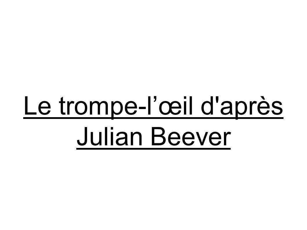 Le trompe-l'œil d après Julian Beever