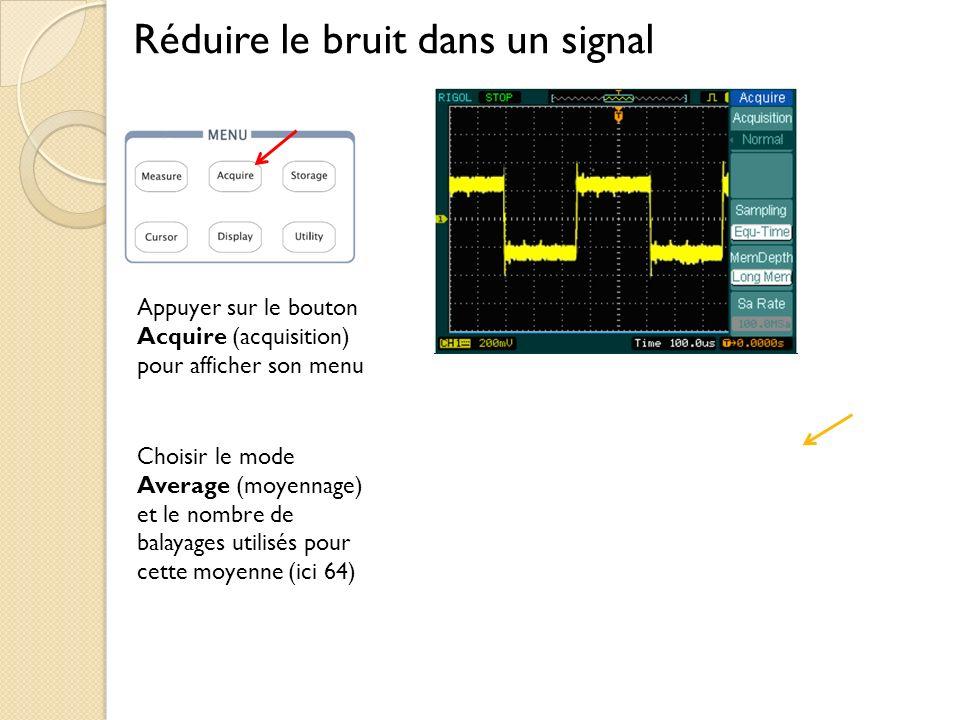 Réduire le bruit dans un signal