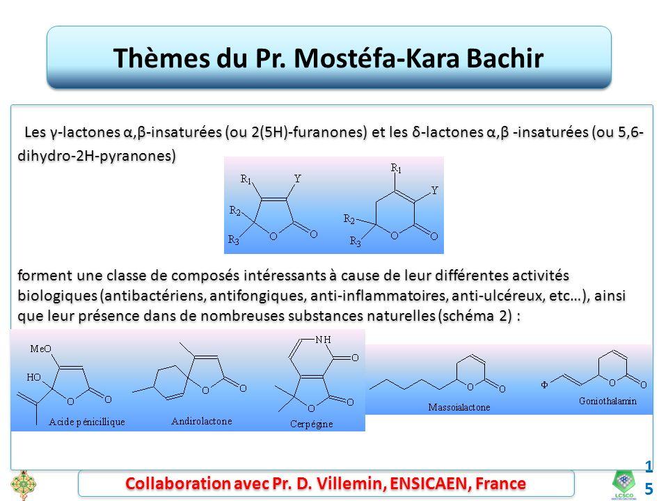 Thèmes du Pr. Mostéfa-Kara Bachir