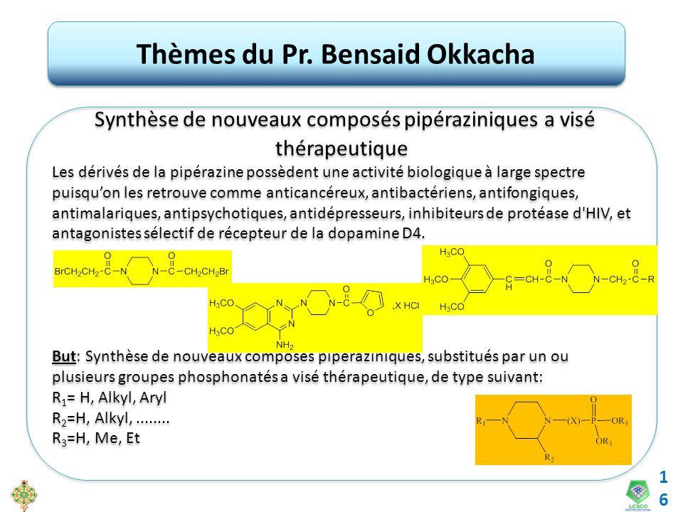 Thèmes du Pr. Bensaid Okkacha