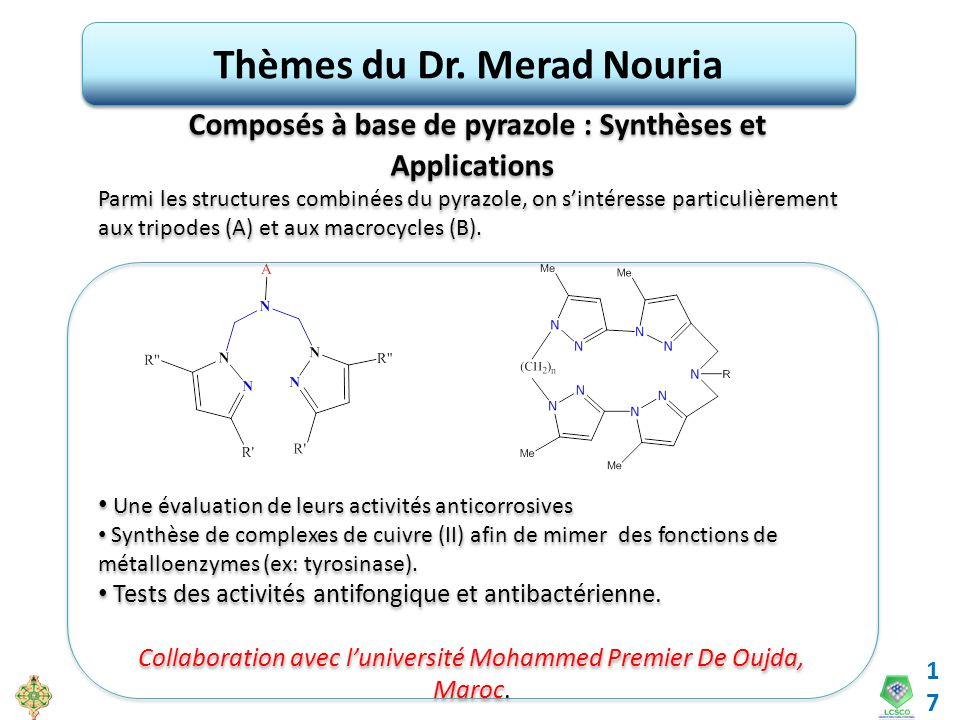 Thèmes du Dr. Merad Nouria