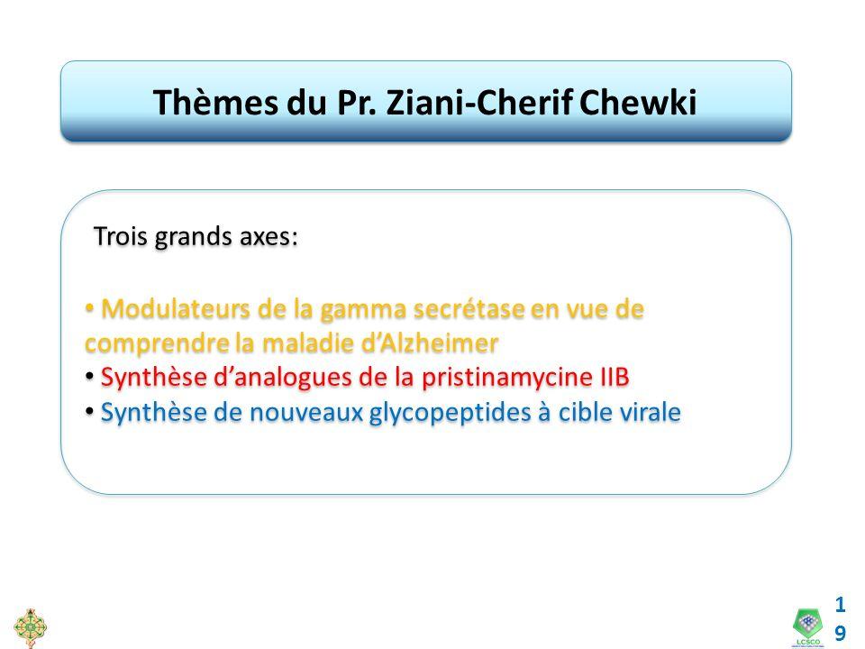 Thèmes du Pr. Ziani-Cherif Chewki
