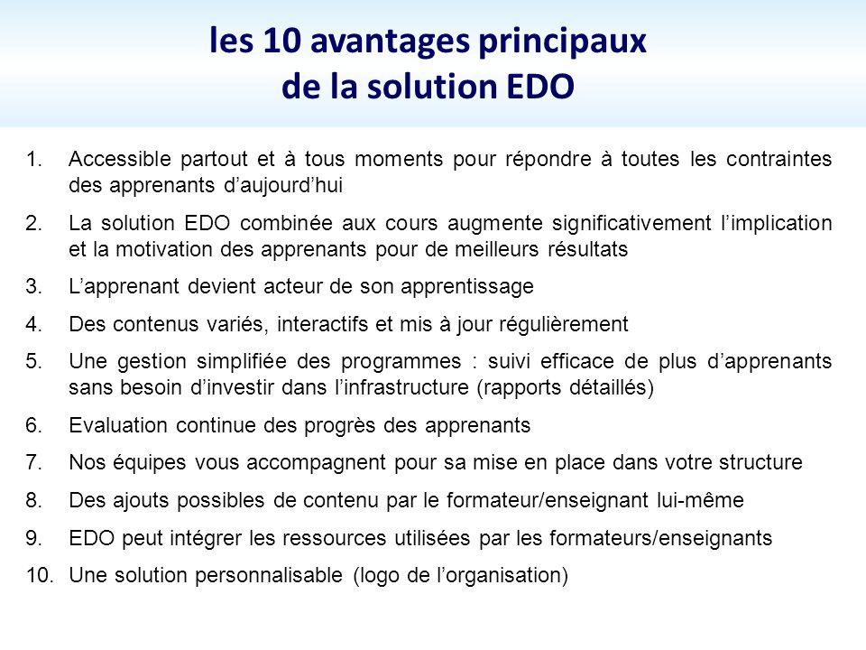 les 10 avantages principaux de la solution EDO