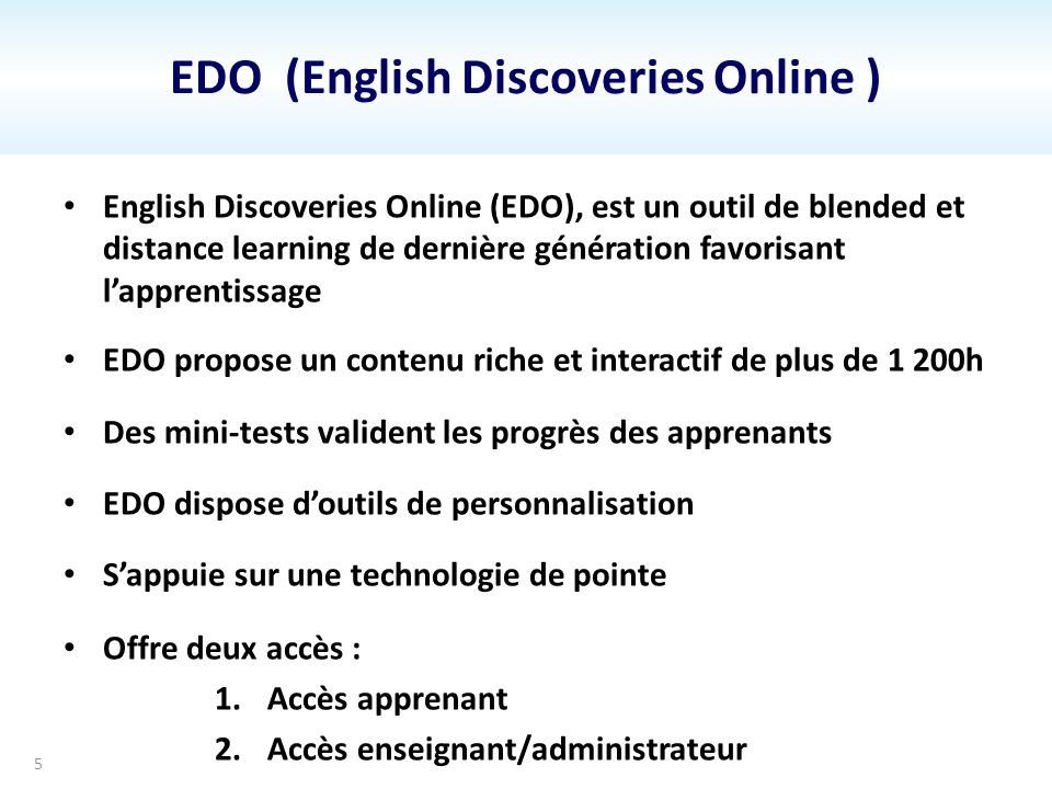 EDO (English Discoveries Online )