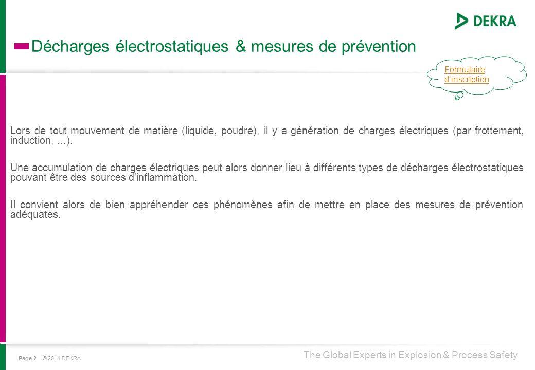 Décharges électrostatiques & mesures de prévention