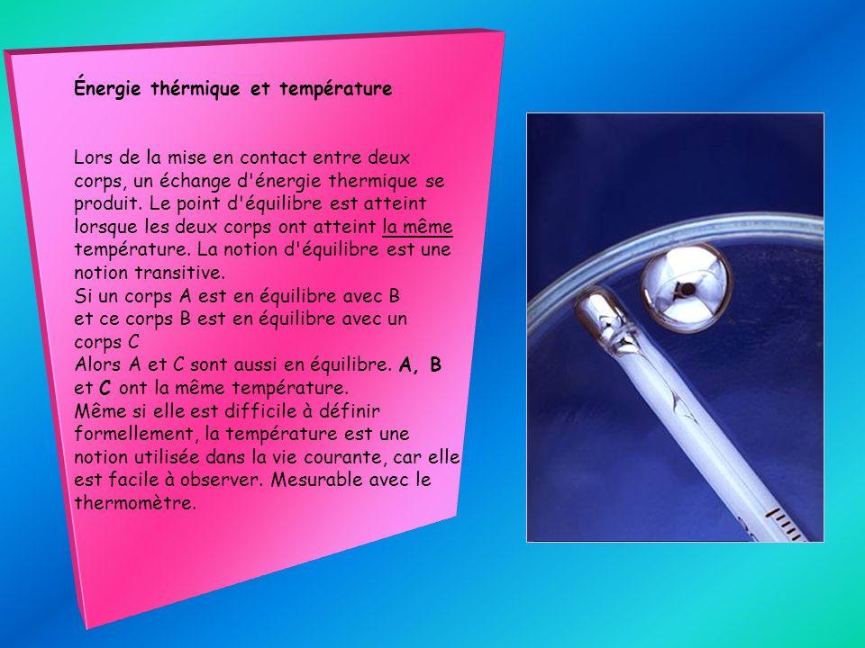 Énergie thérmique et température
