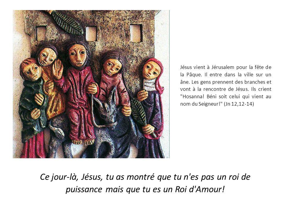 Jésus vient à Jérusalem pour la fête de la Pâque