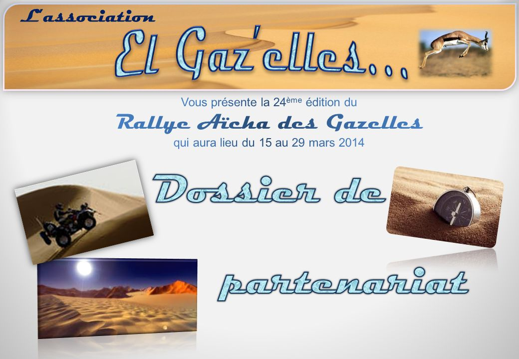Dossier de partenariat El Gaz'elles… L'association