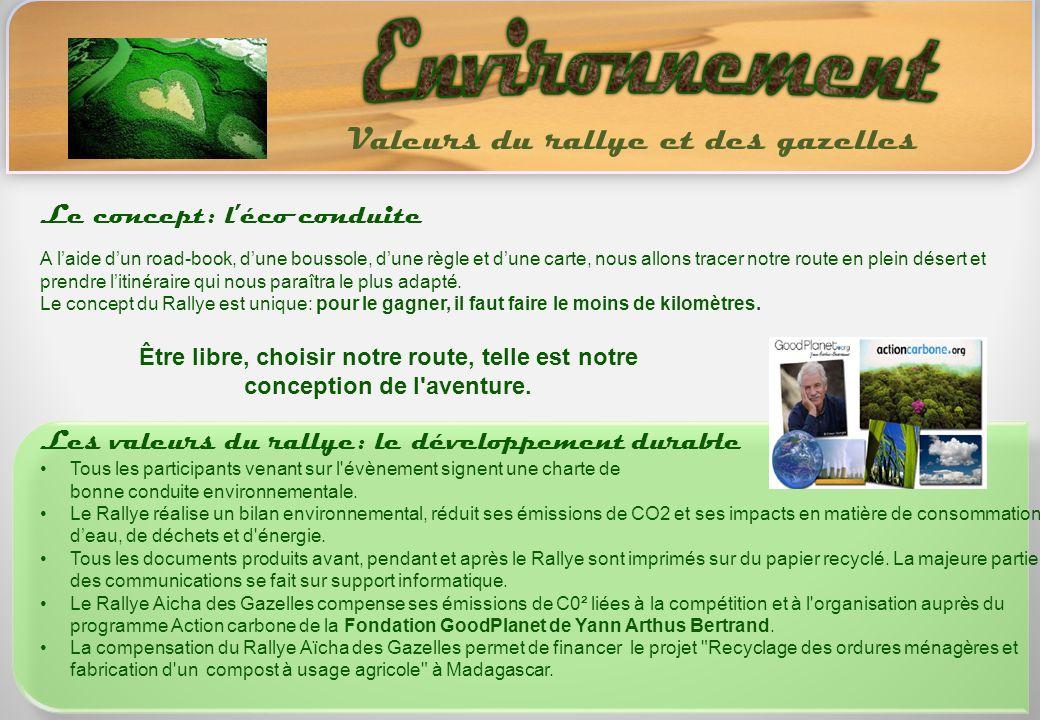 Environnement Valeurs du rallye et des gazelles